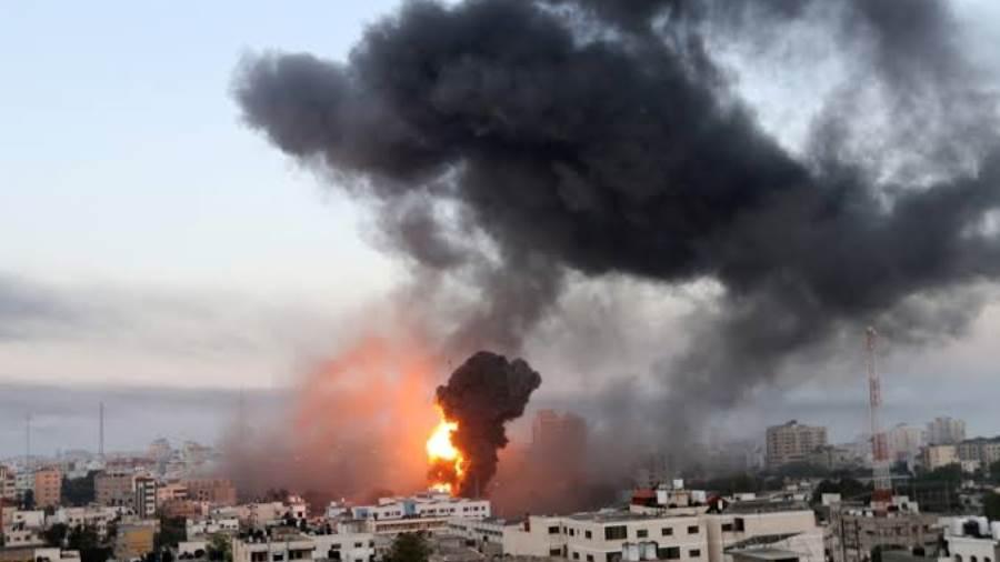 الطيران الإسرائيلي يستهدف مقر الداخلية في غزة